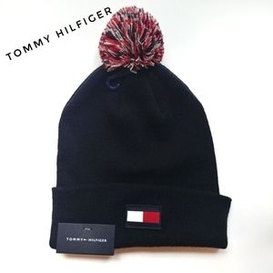 Tommy Hilfiger Flag Patch Beanie with Pom